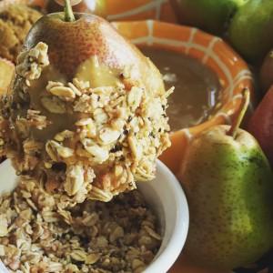 PB Granola Pears